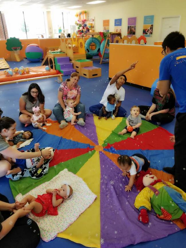 Gymboree Pearland invites all Parents with babies upto 10 mos. to come  enjoy our monthly meetup. Its a great way to get babies engaged in first  activities ...