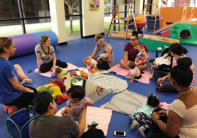 Gymboree Play & Music of Missouri City invites all Parents with babies upto  10 mos. to come enjoy our monthly meetup. Its a great way to get babies  engaged ...