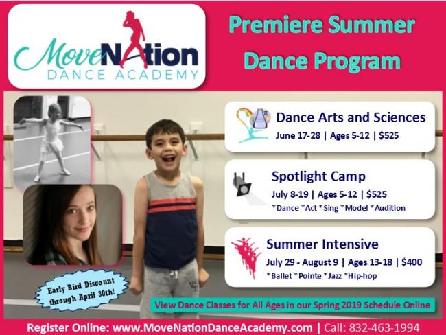 Dance Summer Intensive Workshop | Kids Out and About Houston